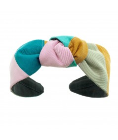 Patchwork Grosgrain Center Turban Headband