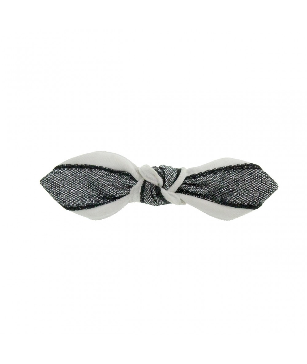 Satin and Metallic Bow on Hair Clip by Jennifer Ouellette