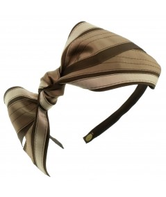 Headband Jennifer Ouellette Satin Stripe Side Knot Bow