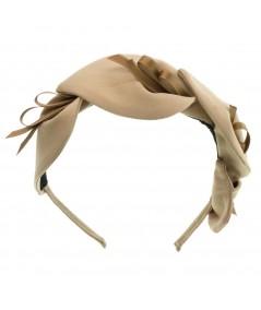 Nude satin-calla-lily-headband