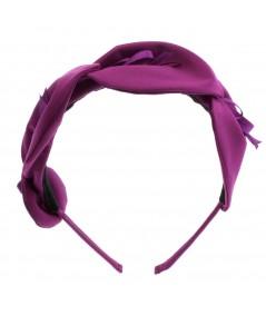 Magenta satin-calla-lily-headband