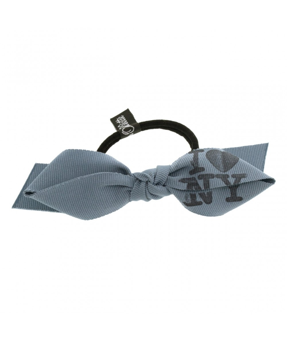 Grosgrain Bow Ponytail Holder with I Love NY Stamp by Jennifer Ouellette