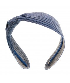 Anchor Colored Stitch Side Knot Headband