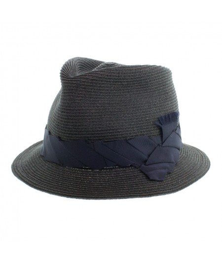 Toyo Fedora Cap with Pleated Grosgrain Trim Band
