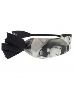 audrey-hepburn-print-elastic-headband-with-grosgrain-pleated-trim