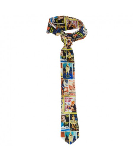 Men's Marilyn Monroe Print Tie with Wire