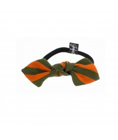 Grosgrain Stripe Bow Ponytail Holder by Jennifer Ouellette