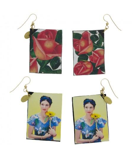 JenO Flower Reversible Earrings