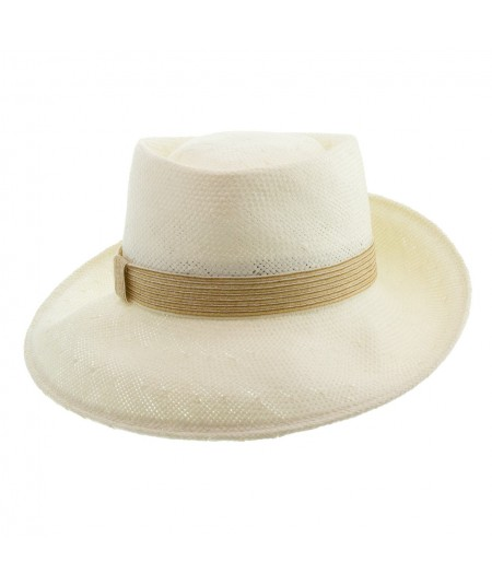 Men's Summer Hat with Straw Trim