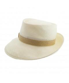 Men's Summer Hat with Straw Trim