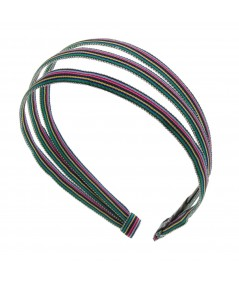 grosgrain stripe 3 piece headband
