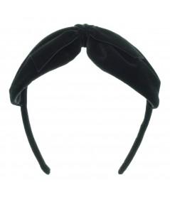 Black Velvet Center Bow Headband