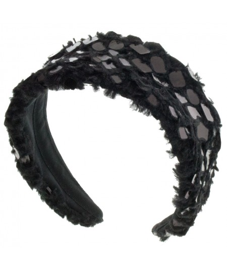 faux-fur-headband-with-pvc-dots