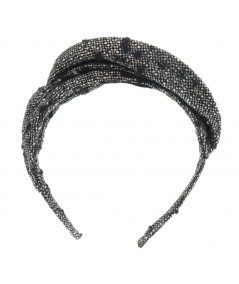 Winter Dots Wool Pleated Asymmetrical Crown