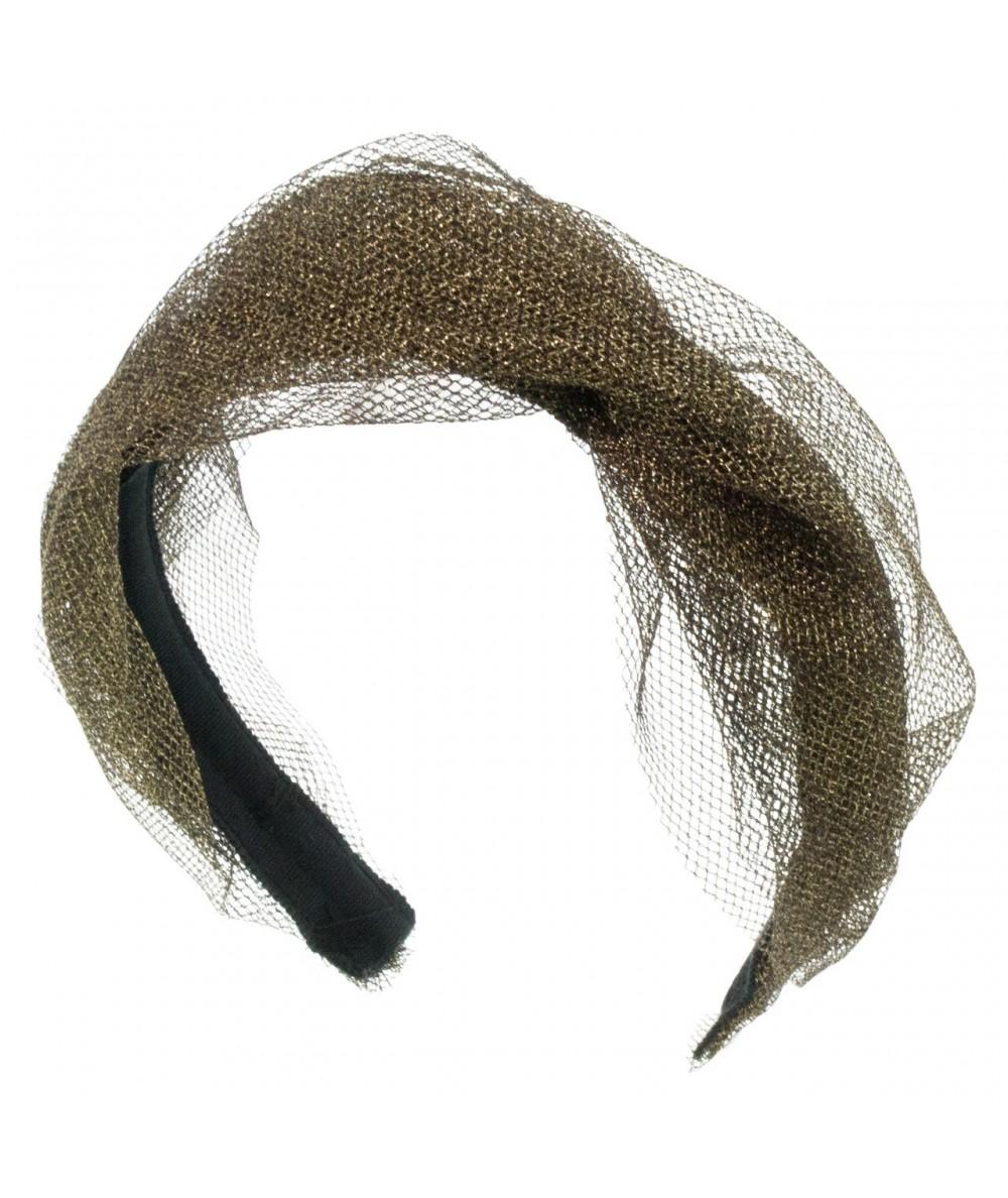 metallic-tulle-twist-headband