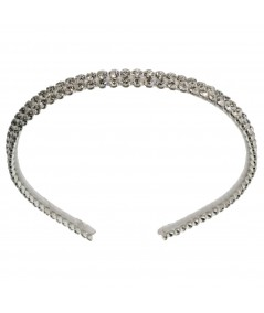White Chrissy Jeweled Bridal Headband