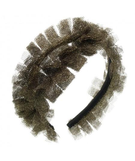 metallic-tulle-headpiece