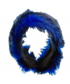 Two-Toned Faux Fur Earmuffs Blue Black