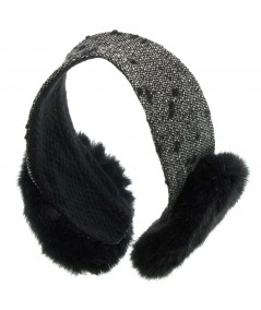 Boucle Earmuffs with Faux Fur