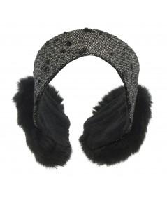 Boucle Earmuffs with Faux Fur