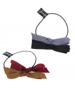 Two colors Double Satin Bow Pony