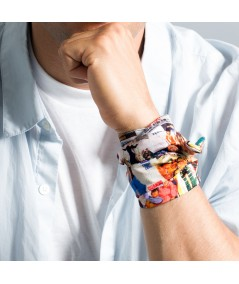 Men's Marilyn Movies Print Wrap Wristband