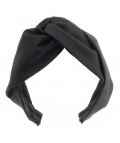 Black Satin Twist Turban Headband