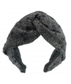 Winter Dots Wool Twist Headband