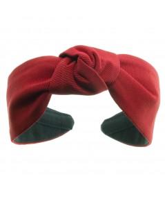 Red bengaline-center-turban-headband