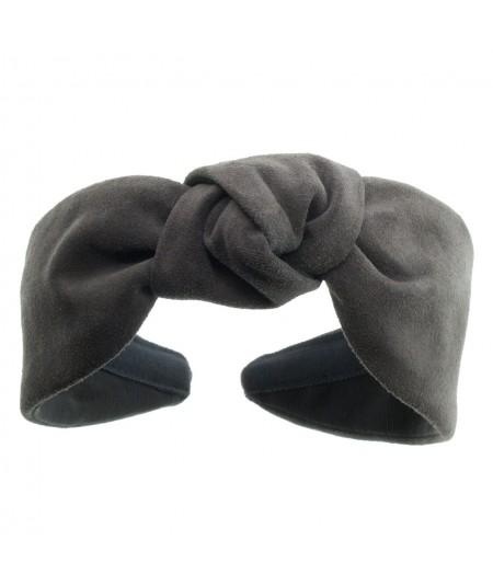 Charcoal suede-center-turban-headband
