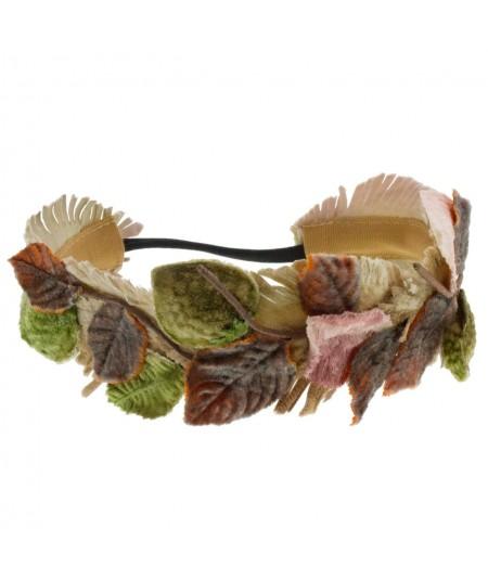 velvet-leaves-elastic-headband