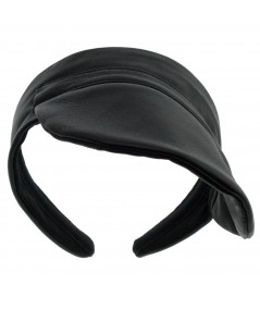 Leather Visor With Asymetrical Brim