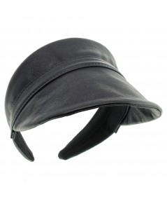 Leather Visor for Sun Protection by Jennifer Ouellette