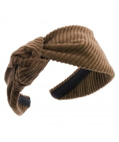 Tabac Corduroy Side Turban Headband