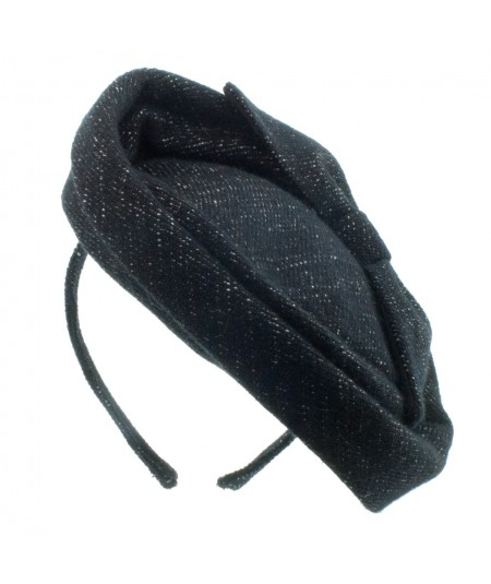 Boucle Headpiece with Back Bow