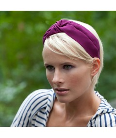 Dark Fuchsia Grosgrain Turban