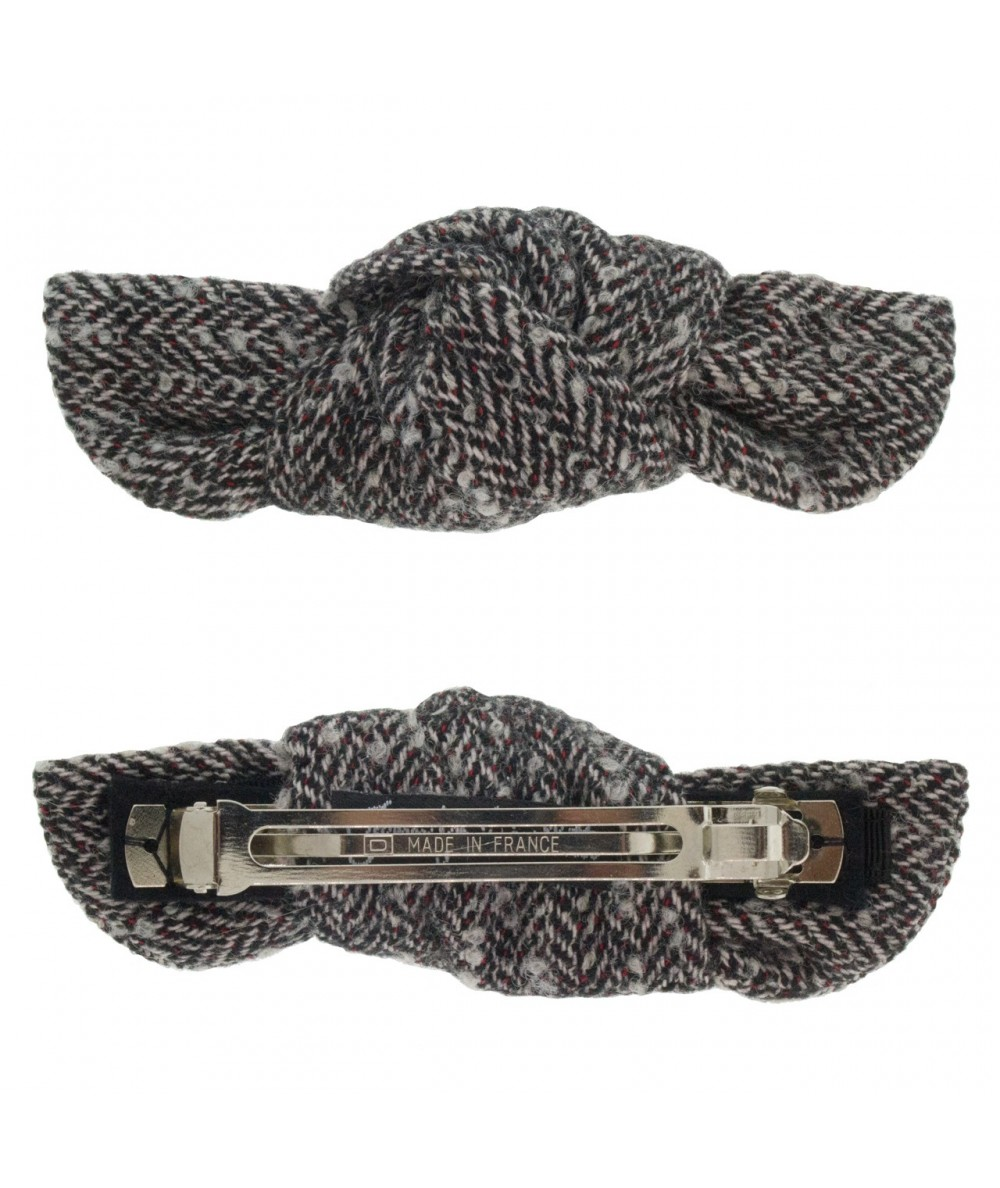 Boucle or Tweed Knot Barrette