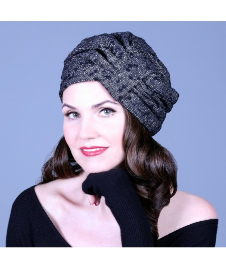 e512aed0e51 Boucle Tweed Wool Turban Hat