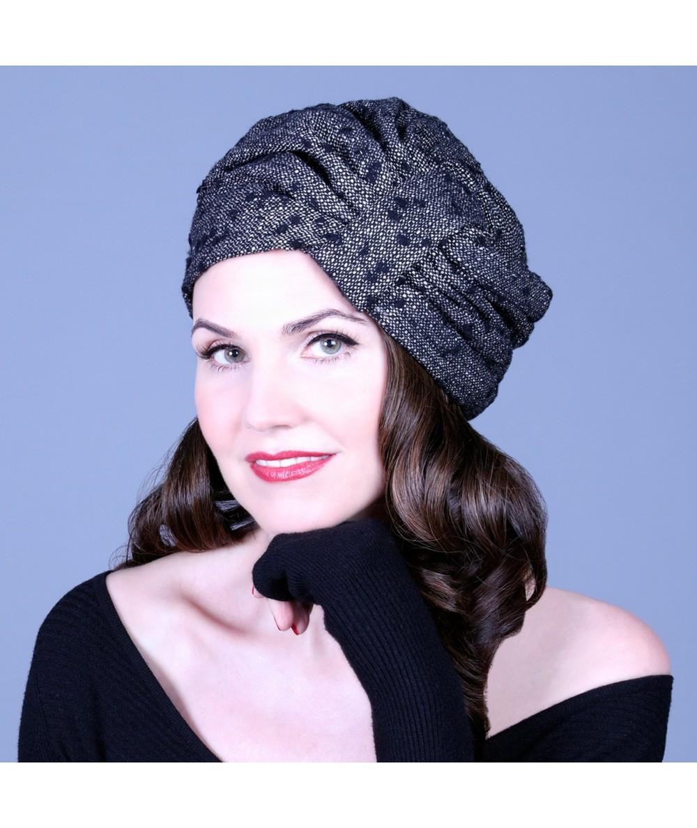 Hat turban - Winter dot tweed