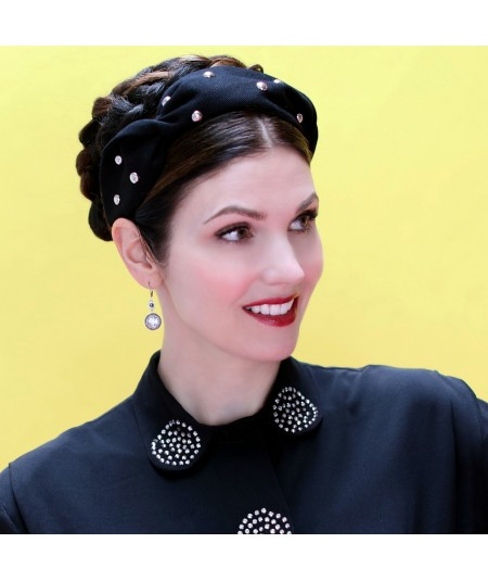 cotton-twill-studded-twist-turban-headband