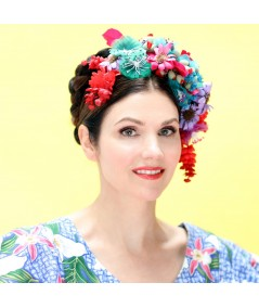 FR11 Large Floral Frida Inspired Headpiece