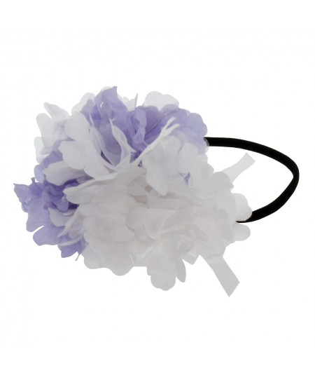 Organza Double Flower Elastic Headband