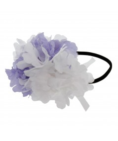 Organza Double Flower Elastic Headband