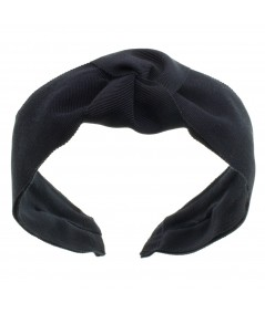 WIDE GROSGRAIN CENTER TURBAN HEADBAND