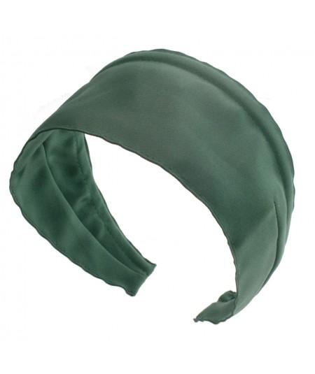 Basic Extra Wide Satin Headband - Mango Green