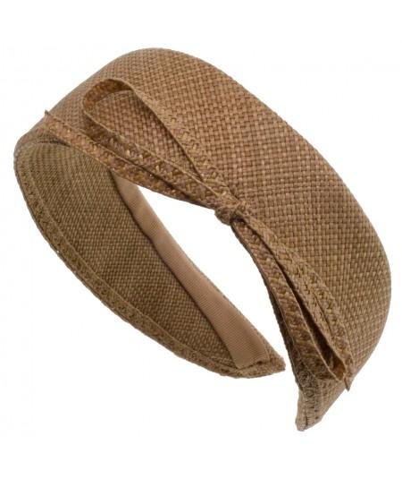 Italian Raffia Jackie O Style with Soutache Bow Headband