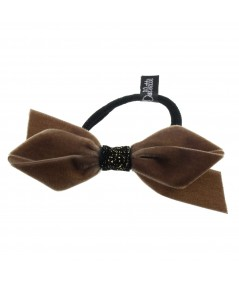 Tabac Velvet Bow Pony with Velvet Sparkle Accent