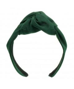 Bengaline Center Turban Headband Hunter Green