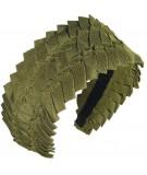 Extra Wide Pleated Grosgrain Headband