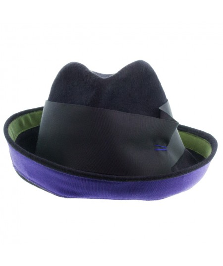Felt Hat with Grosgrain Trim